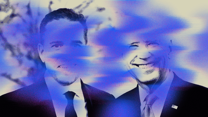 An illustration of Joe and Hunter Biden.