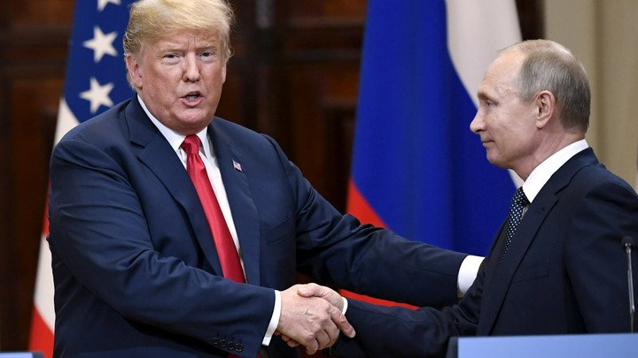 Trump and Putin meet at a summit in Helsinki in July.