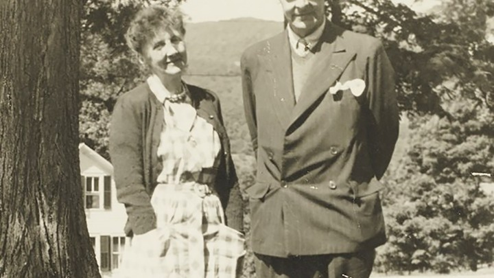 T. S. Eliot and Emily Hale in Dorset, Vermont, during the summer of 1946
