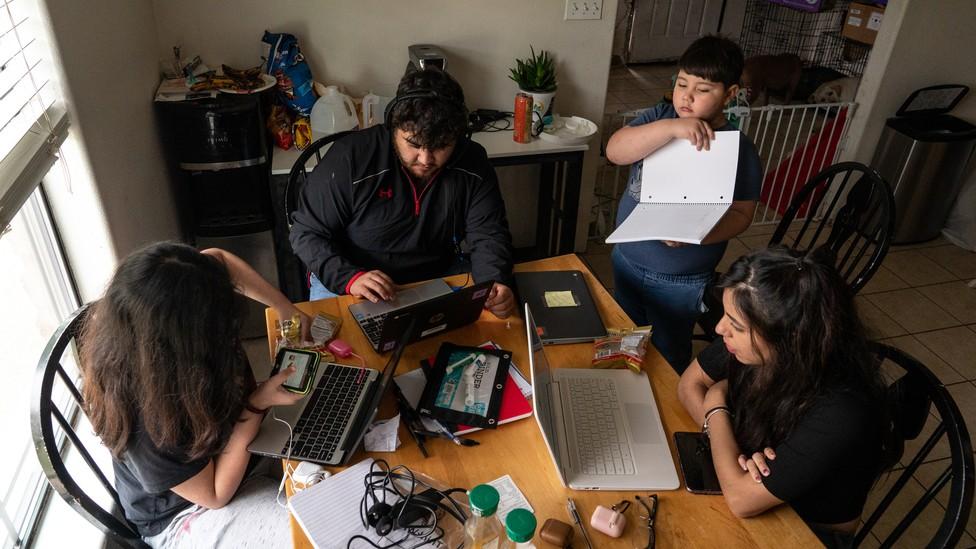 Photo of the Dominguez family