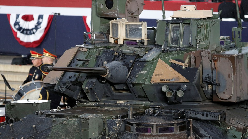 A photo of a large armored tank