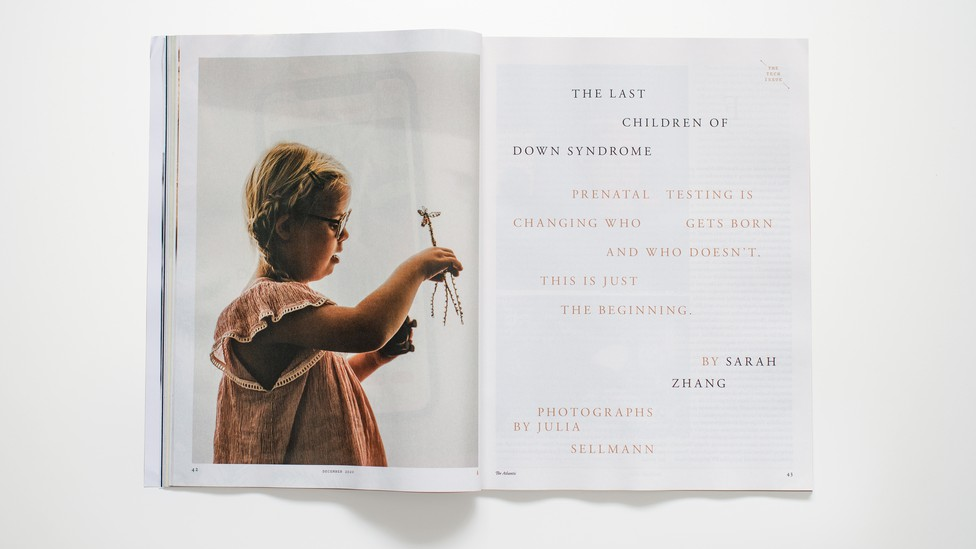 photo of December 2020 Down Syndrome spread in magazine