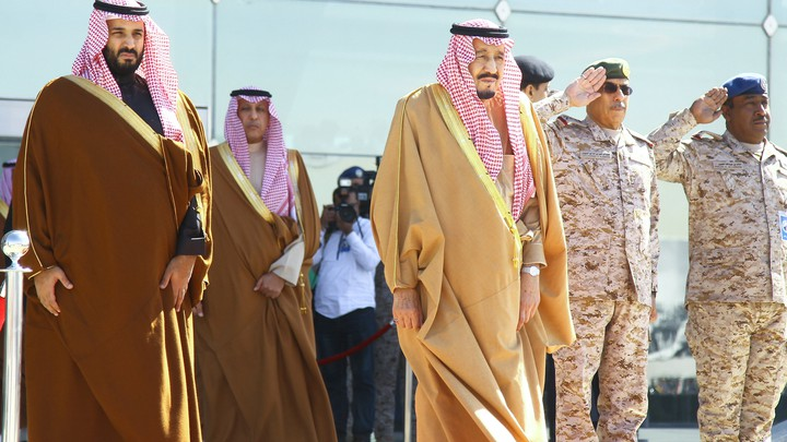 Saudi King Salman and Saudi Deputy Crown Prince Mohammed bin Salman
