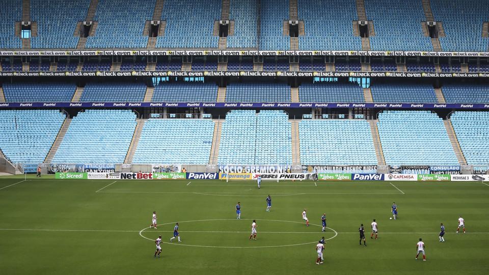 The Rio Grande do Sul State Championship Soccer game closed to public