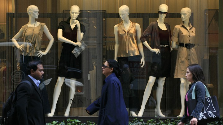 An Ann Taylor store window in 2009 in New York