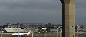 A photo of Heathrow Airport in London.
