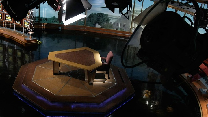A picture of a broadcast television studio