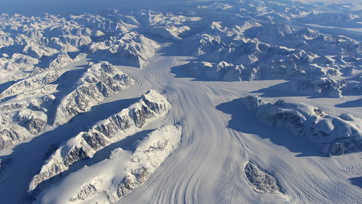 Heimdal Glacier in southern Greenland