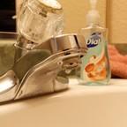 A close-up of a sink