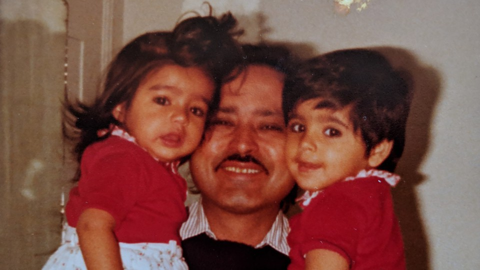 Aarti Shahani with her father and sister