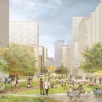 A rendering from the proposed Sunnyside Yard master plan.