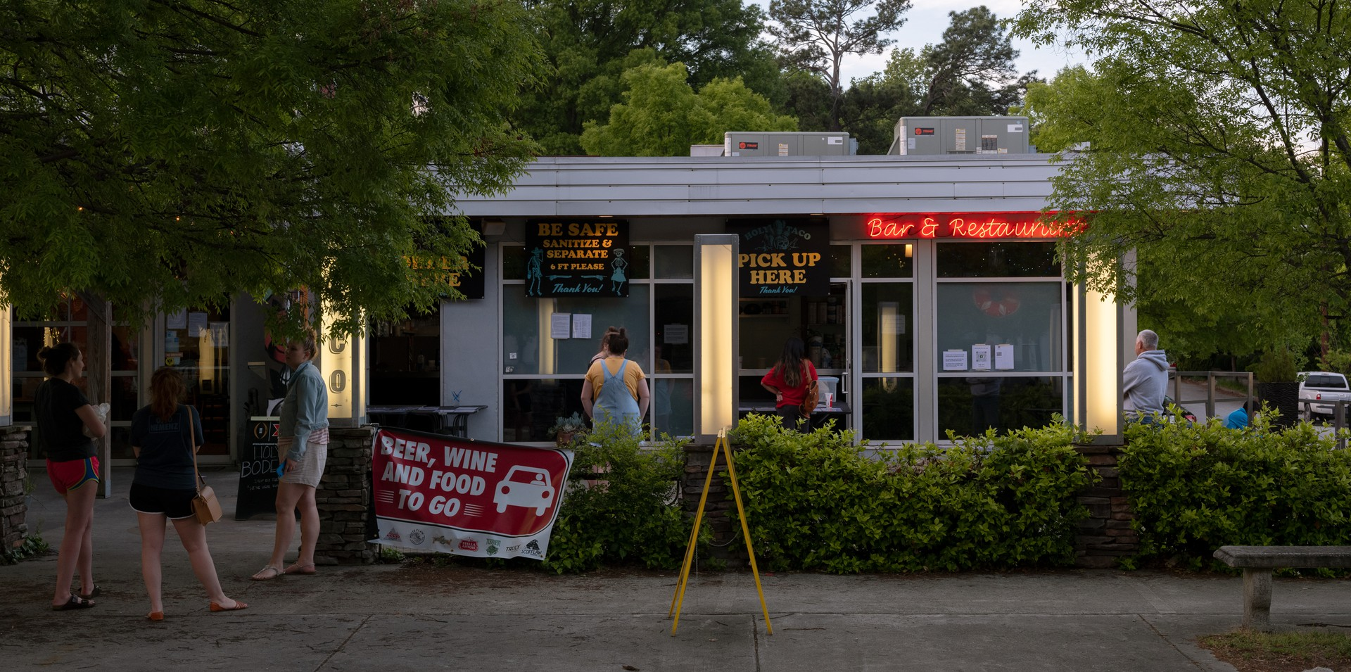 The Wing Bar, open for carry out on Flat Shoals Ave in East Atlanta Village