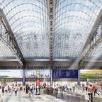 A rendering of Moynihan Station at New York's Penn Station