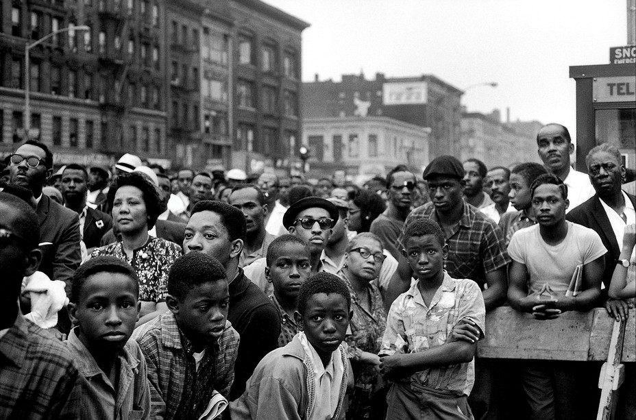Nation of Islam rally in Harlem in 1963
