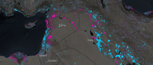 Esri Map of Nighttime Lights