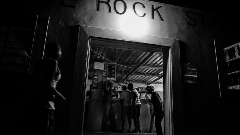 The only brick-and-mortar bar in Tsumkwe, Namibia