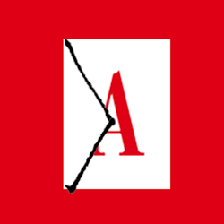 "The Atlantic Daily logo (an envelope with a red ""A"") on a red background"