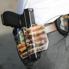 A photo of a Dayton police office's gun holster