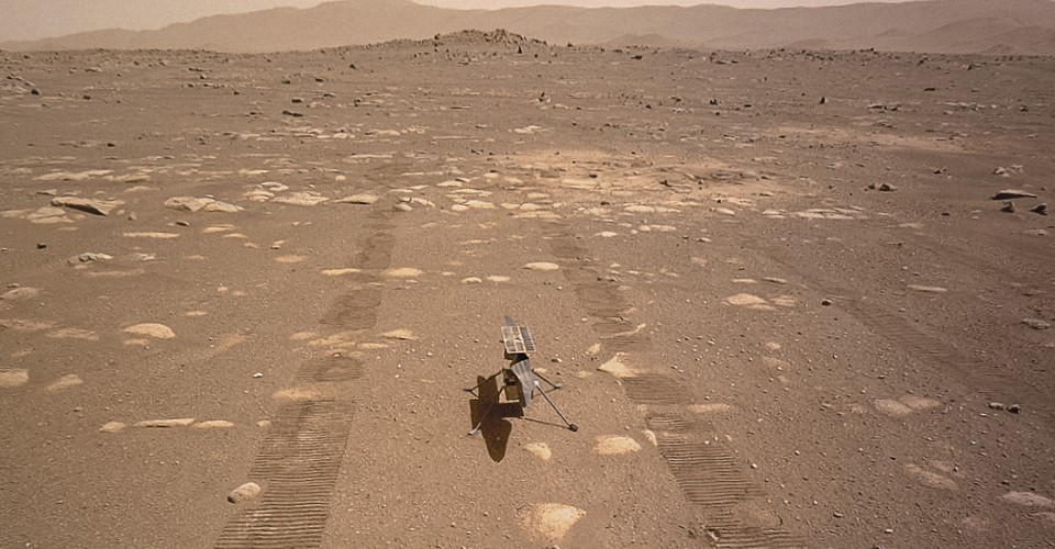 No, You're Crying About a Helicopter on Mars