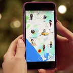 Snap Map is pictured on a phone.