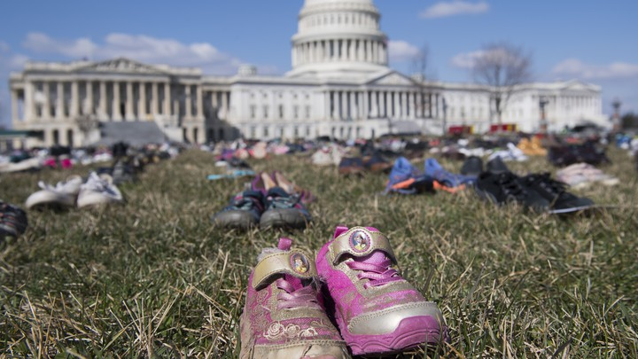 a pair of shoes outside the Capitol