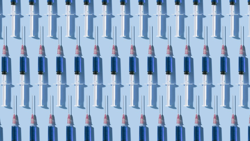 An illustration of vaccine needles