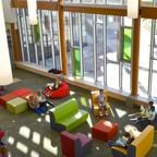Students work in an open classroom at Douglas Park elementary school in Regina, Saskatchewan.