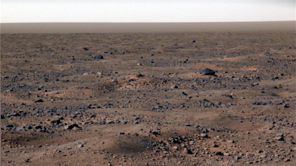 A view of Martian terrain