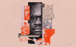 Collage of Clarence Thomas