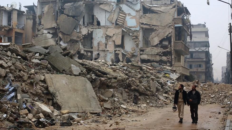 The White Helmets in Aleppo, Syria