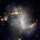 A telescope image of a dusty galaxy