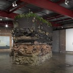 """Installation view """"City of Queen Anne's Lace"""" at Wasserman Projects, José Yaque works courtesy Galleria Continua, Alejandro Campins works courtesy Sean Kelly Gallery NY, Image by P.D. Rearick"""