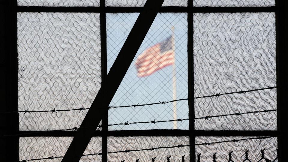 The U.S. flag at Guantanamo Bay, Cuba