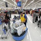 A photo of workers in Walmart