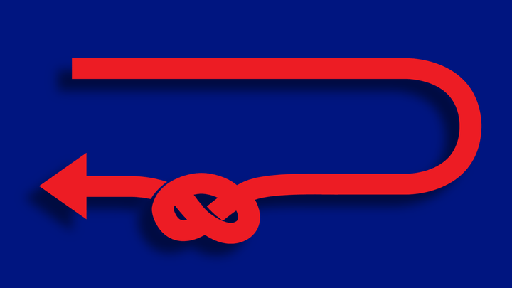 An illustration of an arrow with a knot.