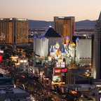 The Las Vegas skyline is pictured.