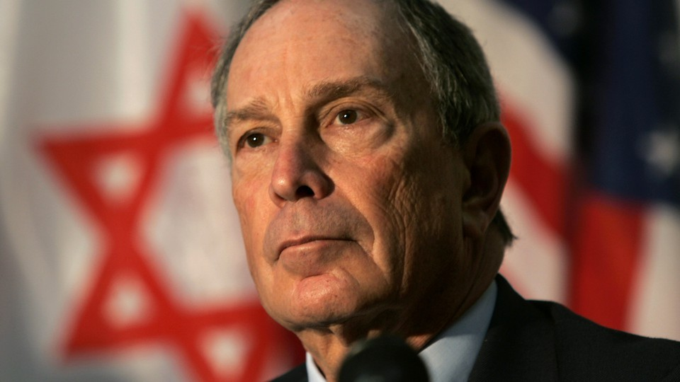 Michael Bloomberg attends a cornerstone ceremony for the Magen David Adom's William H. Bloomberg Jerusalem Station, named after his late father, in Jerusalem.