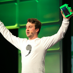 Hacker George Hotz announces Open Pilot at a Tech Crunch conference in 2016.