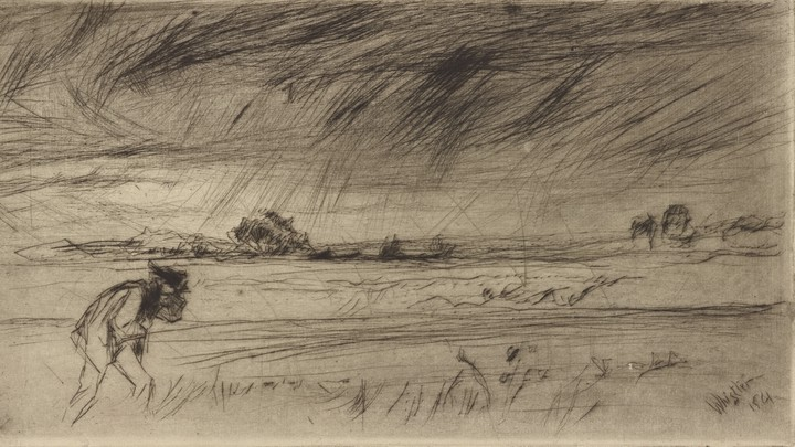 An 1861 sketch of a storm