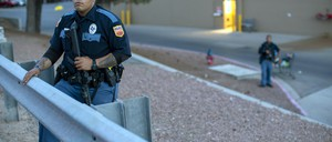 A photo of a police officer in El Paso, Texas.
