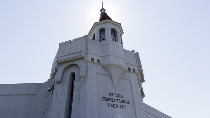 A view from the outside of Attica Correctional Facility in New York