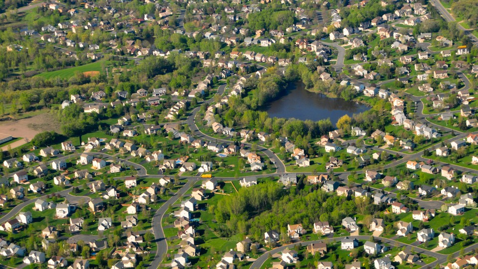 Aerial view of planned development near Minneapolis