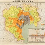 A map of population density in Tokyo, circa 1926.
