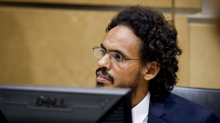 Ahmad al-Faqi al-Mahdi is seen on September 30, 2015,at thecourtroom of the International Criminal Court (ICC) in the Hague the Netherlands.