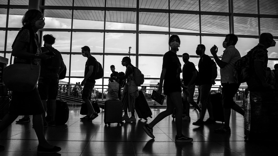 People at an airport