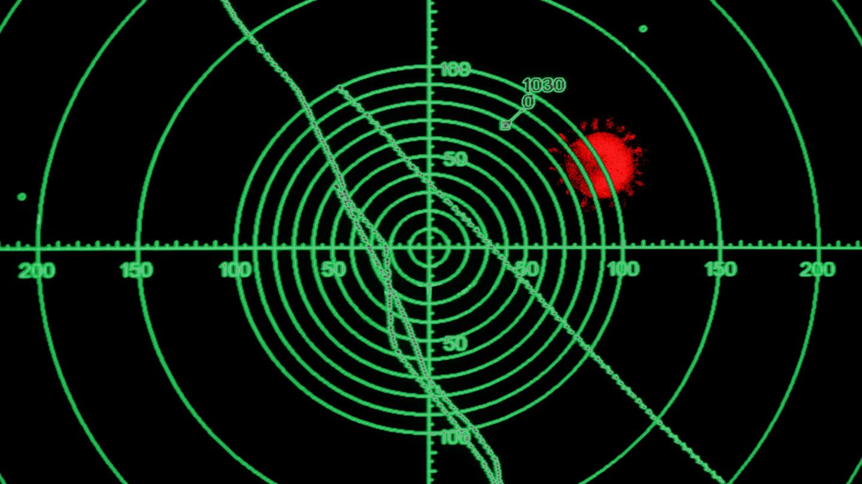illustration of radar and coronavirus blip