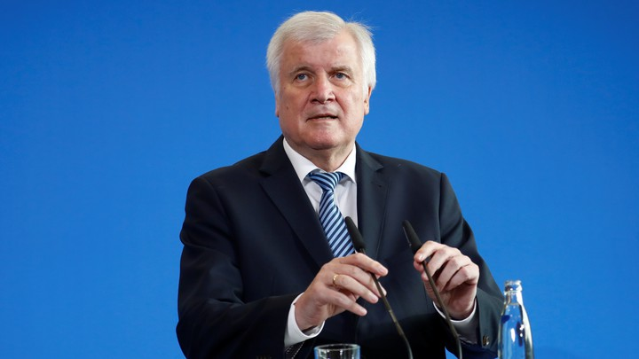 German Interior Minister Horst Seehofer, the chairman of the CSU party, addresses a news conference in Berlin on September 19, 2018.