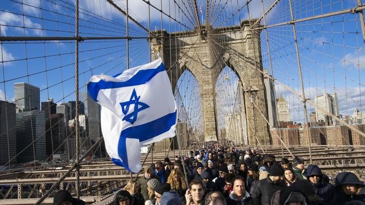 A solidarity rally in Brooklyn.