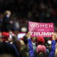 A Trump supporter at a campaign rally in Grand Rapids, Michigan