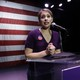 Katie Hill speaks to supporters during an election watch party